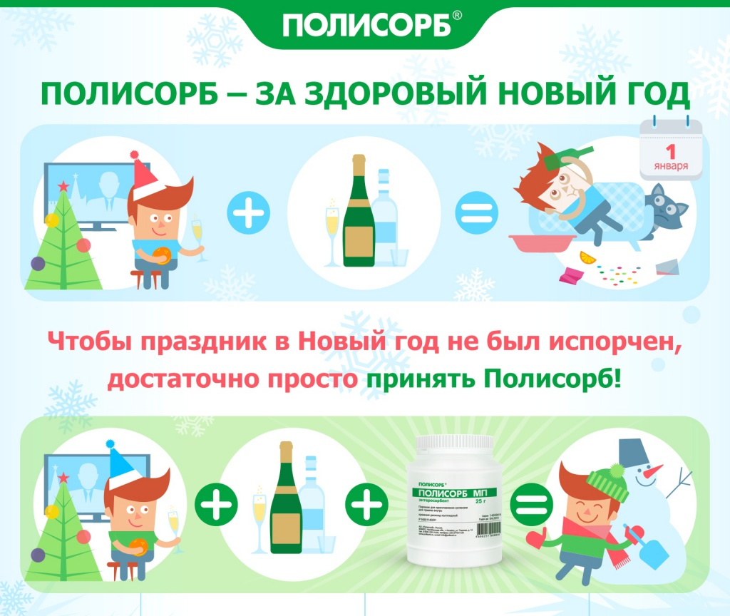 Полисорб перед употреблением алкоголя